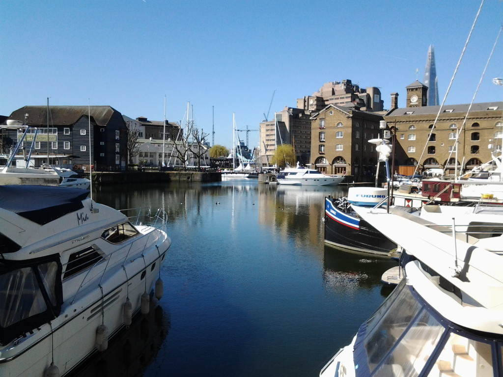St Katharine's dock... a picture of calm...